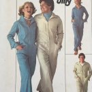 Simplicity 7619 1970s Misses Zip Front Jumpsuit Coveralls Vintage Sewing Pattern Size 16 Bust 38