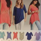 Simplicity Sewing  Pattern 1198 Misses' Knit Tops in Two Styles Sizes xxs - xxl