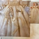 Vogue 1755 Smocked Infant Christening Dress Bonnet STRASBURG HEIRLOOM COLLECTION