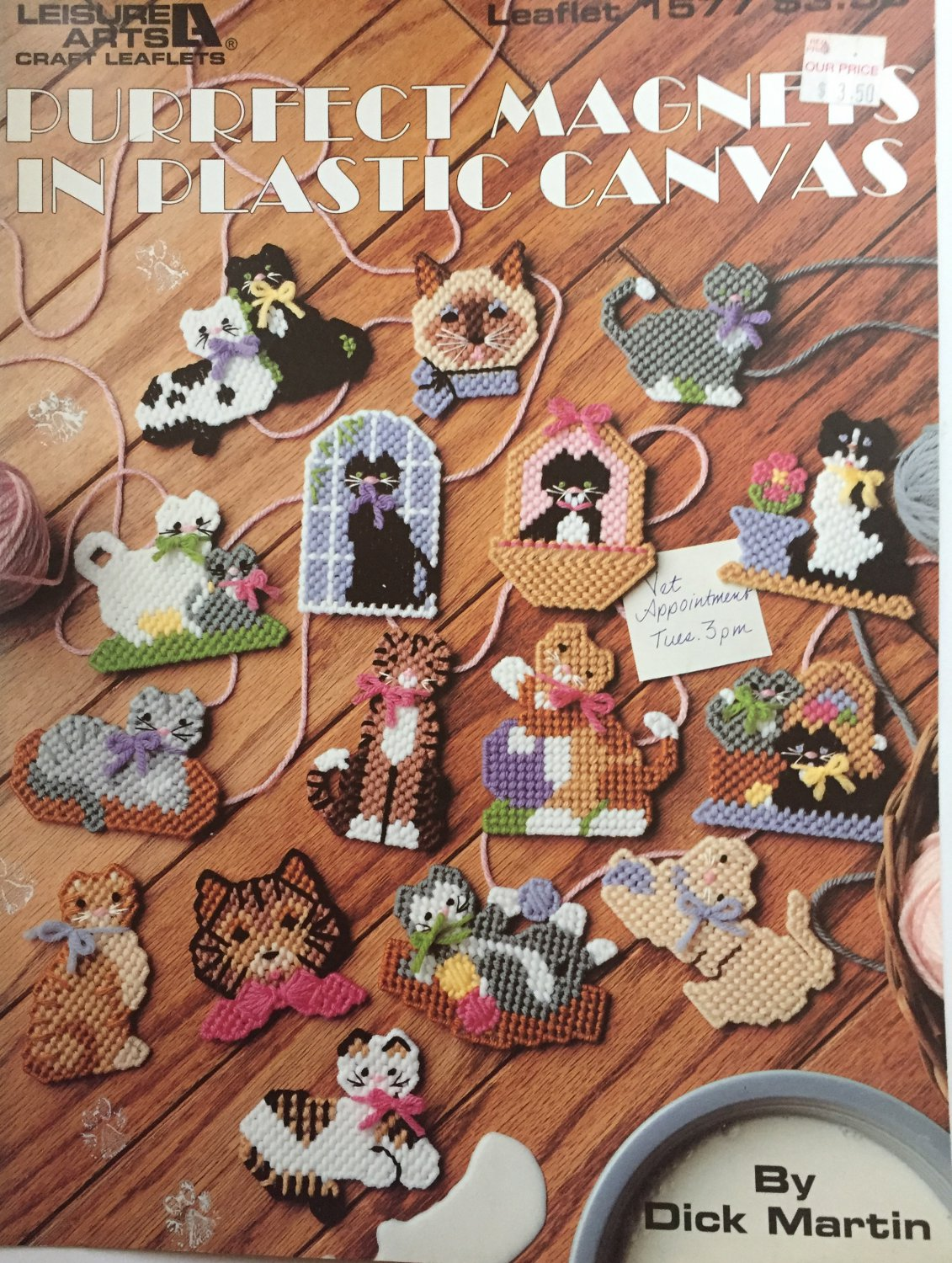 Leisure Arts 1577 Magnets for Plastic Canvas Pattern Purrfect cats kittens