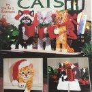 American School of Needlework 3158 Christmas Cats Plastic Canvas Pattern