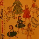 "Simplicity 1779 Dolls' wardrobe for 15"" Sweet Sue and Binnie UNCUT 1950's"