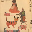 McCall's 6708 Six Novelty Animals toys Vintage Sewing Pattern UNCUT