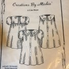 Creations by Michie A-Line Dress  Sewing Pattern #116 size 2 - 6