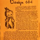 Mail Order Laura Wheeler Clown Sock Doll Sewing Pattern Design 684