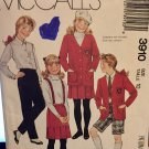 McCall's 3910 School Girls Unlined Jacket, Shirt, Skirt, Pants Shorts Sewing Pattern Size 10