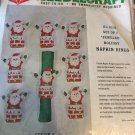 Bucilla Christmas Needlecraft Jeweled Holiday Napkin Rings Santa in Chimney KIT