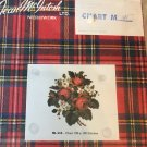 Jean McIntosh ltd. Needlework Chart 131 Red Roses and White Violets Cross Stitch