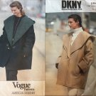 Vogue 2547 Misses' Loose Fitting Jacket by American Designer, DKNY sizes 8 10 12 sewing pattern