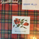 Jean McIntosh ltd. Needlework Chart 176 Poppy Spray Cross Stitch