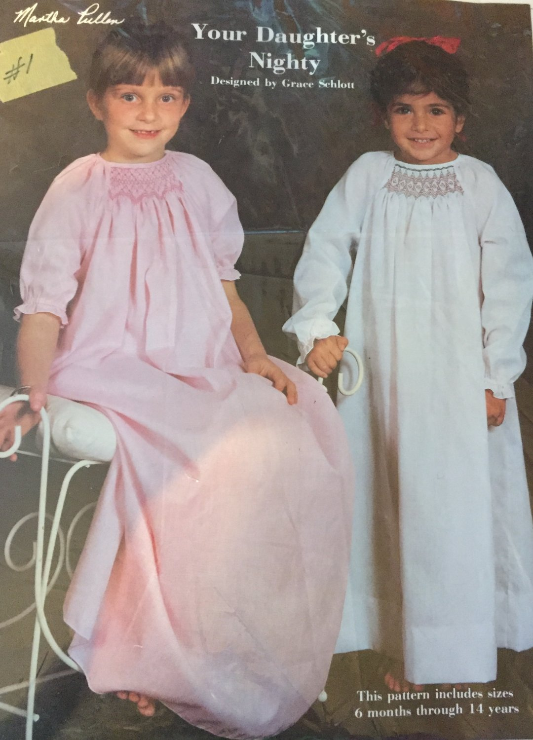 Martha Pullen Your Daughter's Nighty designed by Grace Schlott size 6 months to age 14