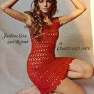 Vintage Coats & Clark leaflet for crochet dress pattern instructions