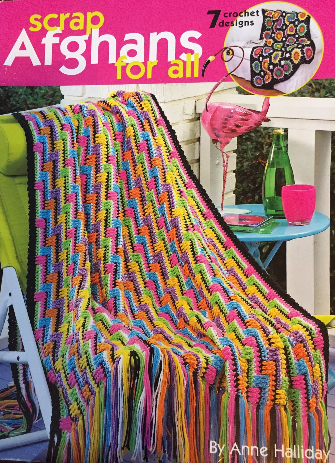 Leisure Arts 3819 Scrap Afghans for All Anne Halliday