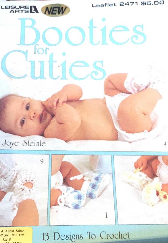 Baby Booties for Cuties  Crochet Leisure Arts 2479 13 Bootie designs