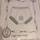 Double-Seat Panty sewing pattern Ginger Snaps designs small to extra large
