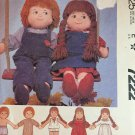 "7222 McCall's Rag Doll and Clothes Pattern Boy or Girl Wardrobe 22"" Dolls"