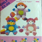 Popples Stuffed Toys Sewing Pattern Butterick 4080