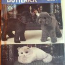 Vogue 8342 Stuffed Dog and Cat Sewing  Pattern