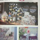 Simplicity 9825 Craft Pattern Sofa Chair Tissue Box Covers, Bird House Paper Towel Cover and more!