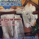 Magic Crochet Pattern Magazine Number 81 December 1992 Doilies, tablecloths, child's sweater