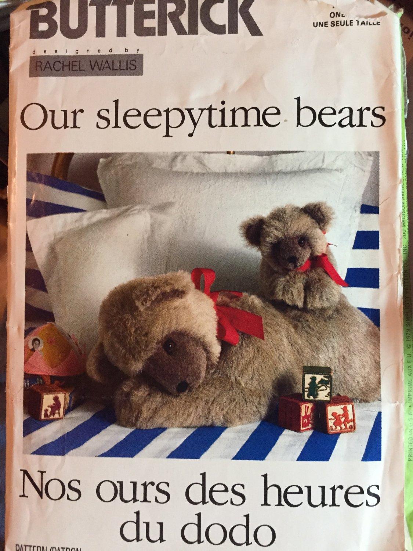 Butterick 119 Our Sleepytime Bears by Rachel Wallis Sewing Pattern