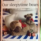 Butterick 119 Our Sleepytime Bears by Rachel Wallis Sewing Pattern