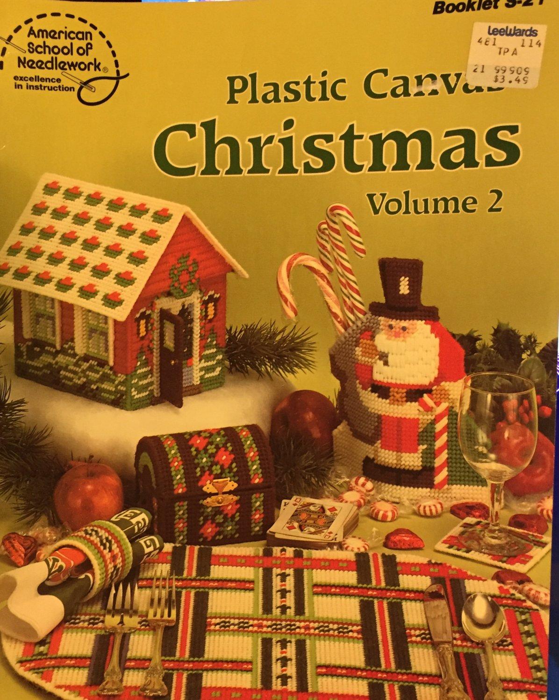 Plastic Canvas Pattern S-21 Christmas Volume 2 American School of Needlework