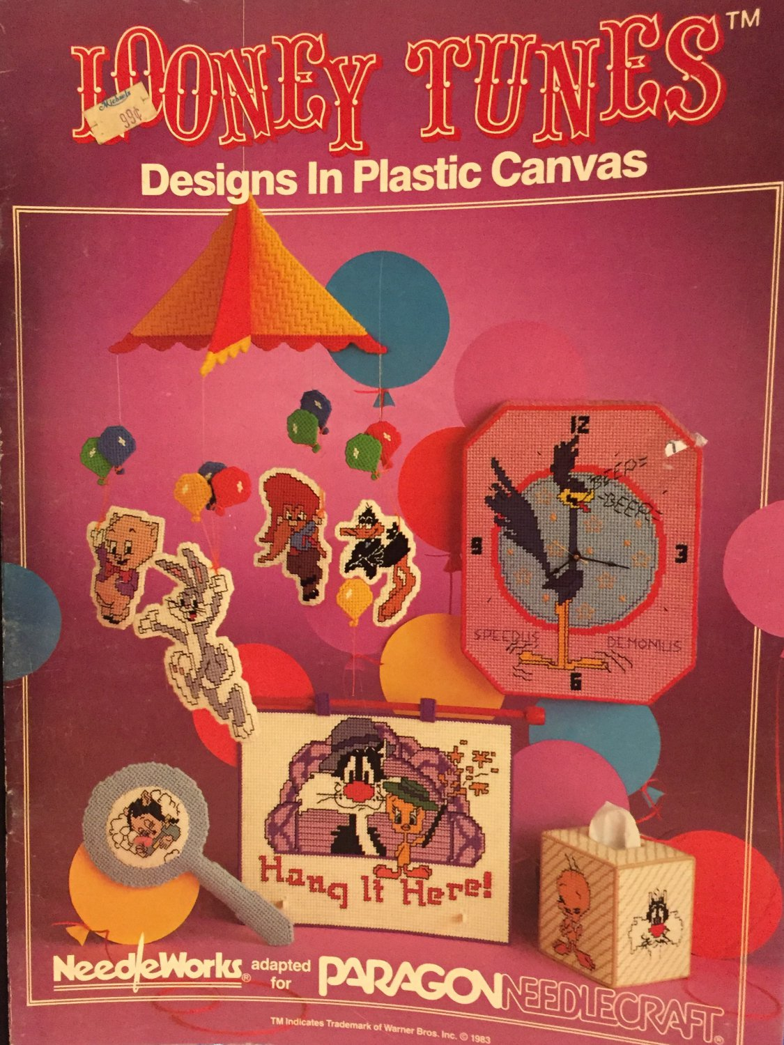Looney Tunes in Plastic Canvas Pattern book 2008 Needleworks for Paragon Needlecraft