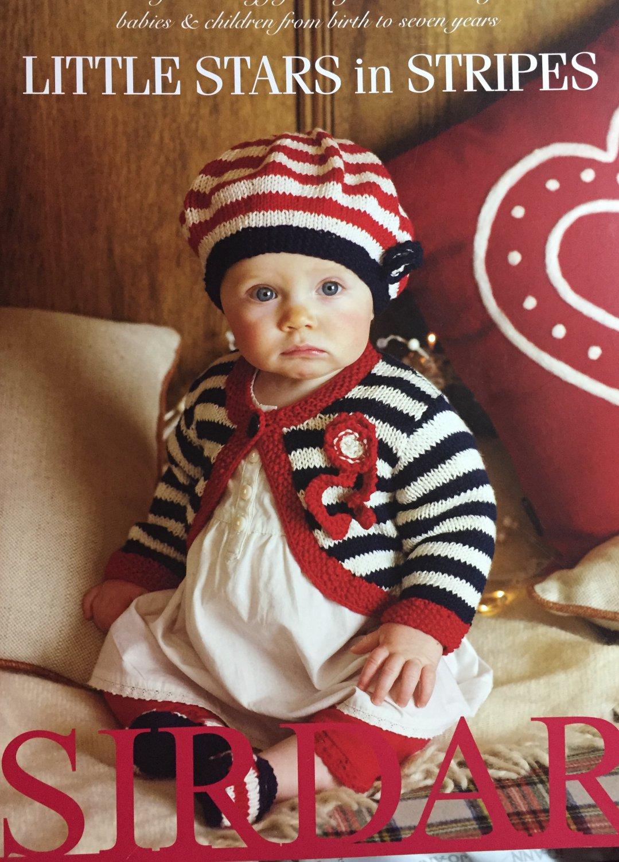 Sirdar 355 Little Stars in Stripes Knitting Patterns for Babies 20 designs