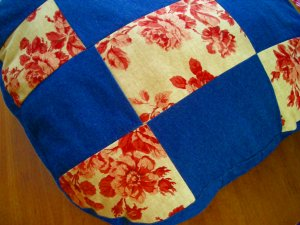 Patchwork Floor Pillow or Dog Bed