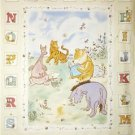 CLASSIC POOH ABC Alphabet Fabric QUILT Panel Nursery!