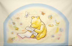 Classic Pooh TIMELESS MEMORIES Baby Nursery Fabric Panel Headboard Pillows