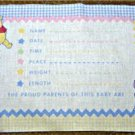 Winnie the Pooh Gingham Baby Keepsake Pillow Fabric Panel