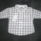 """Resort Getaway"" Checkered Button Shirt 3/6 mos"