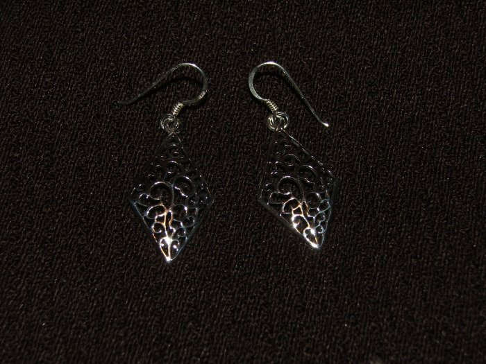 Antique design Silver earing - 4911
