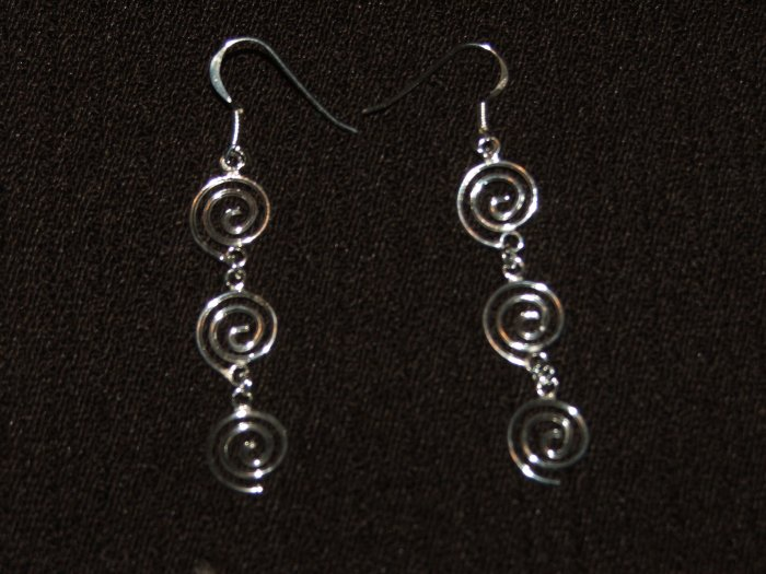 Swirl silver dangling - 4482