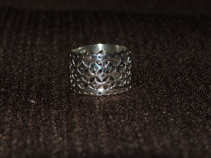 Filigree silver ring - 2628