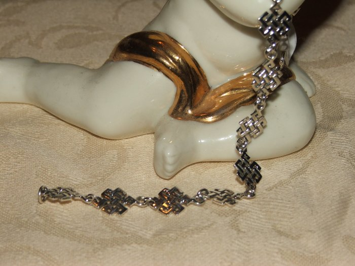 Celtic knot square silver bracelet - 5351
