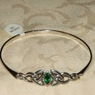 Celtic knot Bangle with emerald - 5474