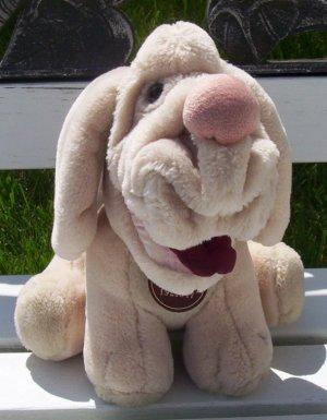Vintage Beige Wrinkle Wrinkles Dog - 1981 www.rootbeer.ecrater.com
