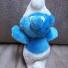 "VINTAGE 6"" Plain Smurf Smurfs Plush Stuffed - Great!  www.rootbeer.ecrater.com"
