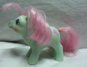 Vintage My Little Pony Baby Earth Pony MLP - Cuddles 1985 - www.rootbeer.ecrater.com