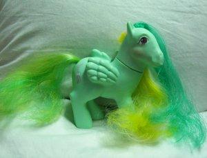 Vintage My Little Pony Pegasus MLP Braided Beauty - Brush 'n Grow - www.rootbeer.ecrater.com