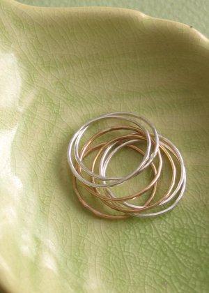 Slim Organic Stacking Rings - Set of 7