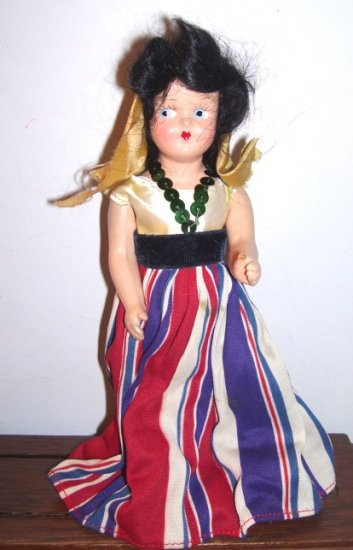 Vintage 2 doll lot composition girls Princess Ann Gypsy