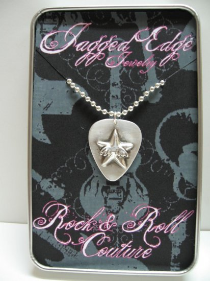 Rock Star Guitar Pick Pendant