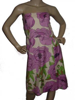 $189 ANN TAYLOR LOFT floral cocktail SUN DRESS sz 10 L Large