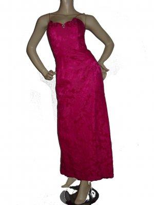 Womens JESSICA McClintock Cerise Dress Sz 7/8 M Medium