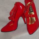 Womens Sexy Red 5 INCH HEEL Pumps Sz 9 fetish