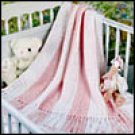 Pink Stripes Splendor Baby Afghan